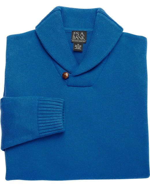 Jos. A. Bank - Blue Executive Collection Cotton Shawl Collar Sweater for Men - Lyst