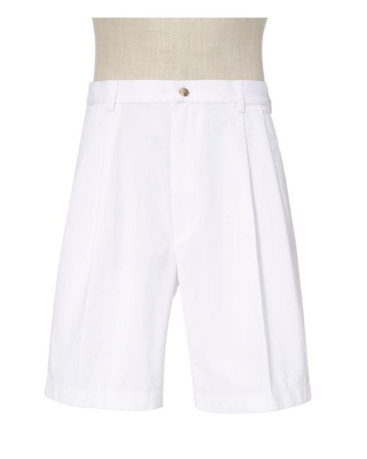Jos. A. Bank - White Stays Cool Cotton Shorts Pleated-front for Men - Lyst