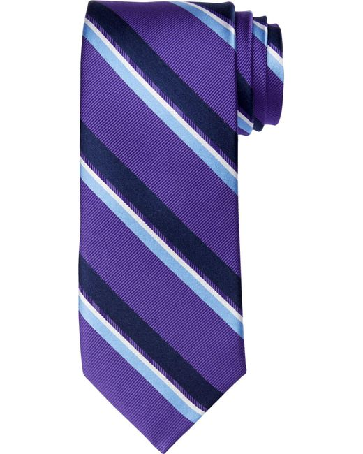 Jos. A. Bank - Purple Executive Collection Wide Stripe Tie - Long Clearance for Men - Lyst