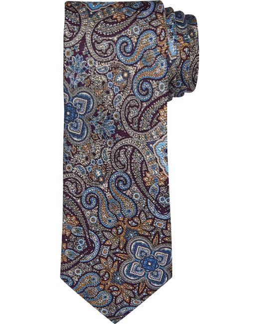Jos. A. Bank - Purple Executive Collection Paisley Kaleidoscope Tie for Men - Lyst