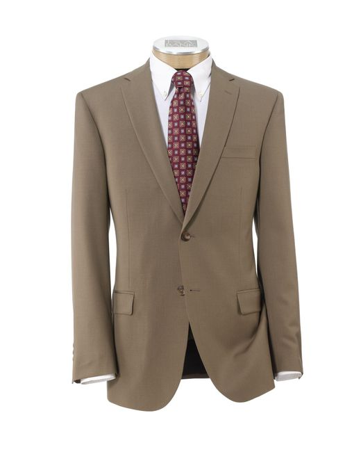Lyst jos a bank traveler tailored fit 2 button suit for Jos a bank tailored fit vs slim fit shirts