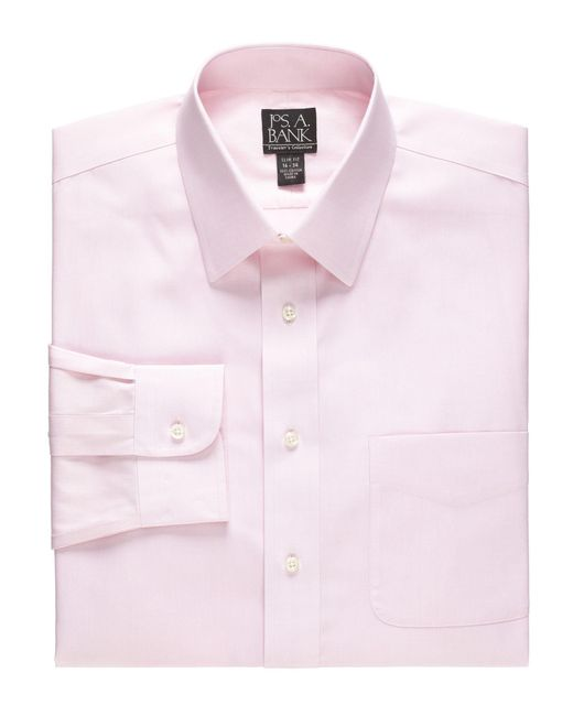 Lyst jos a bank traveller collection tailored fit for Jos a bank slim fit vs tailored fit shirts