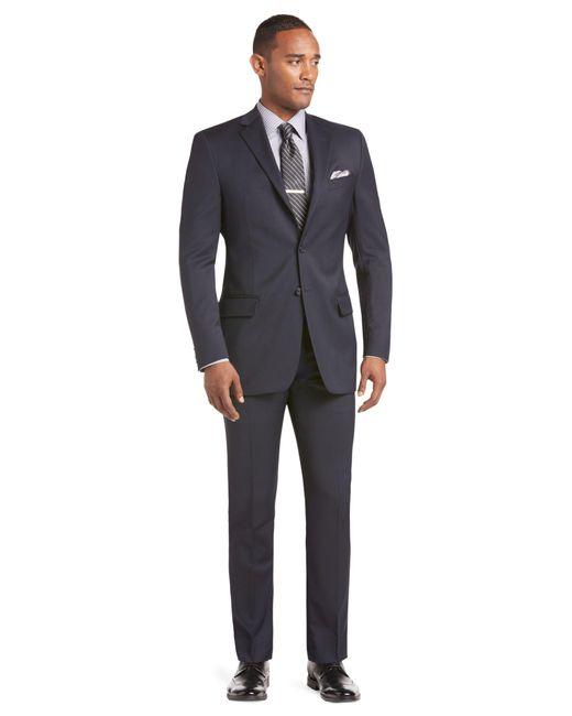 Jos a bank reserve 2 button plain front slim fit med for Jos a bank tailored fit vs slim fit shirts