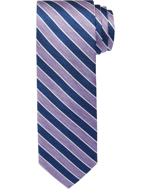 Jos. A. Bank | Purple 1905 Collection Thin Stripes Tie for Men | Lyst