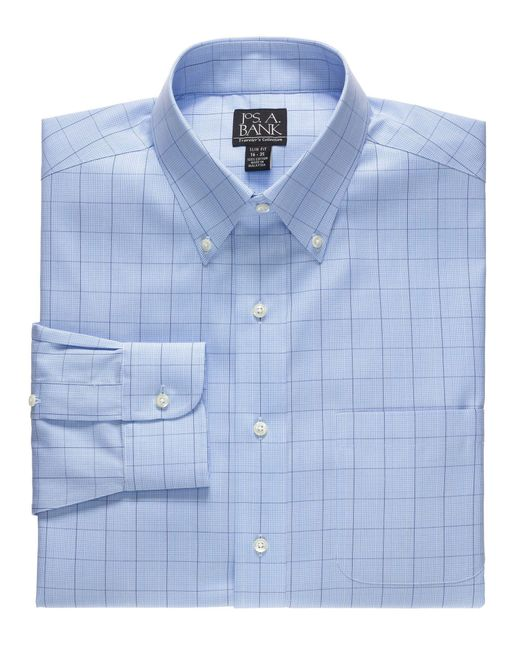 Jos a bank traveller collection slim fit button down for Joseph banks dress shirts