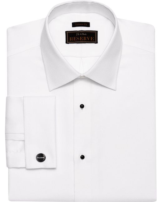 Lyst jos a bank reserve collection tailored fit wing for Big and tall french cuff dress shirts