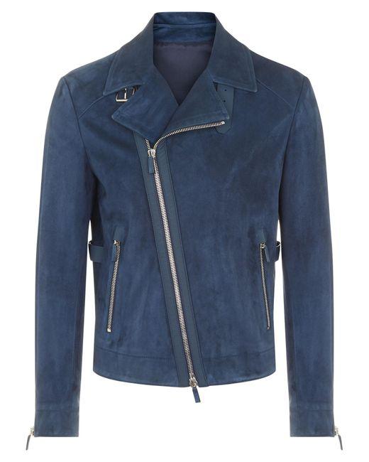 Joseph - Blue Veste Scilly en cuir suédé + cuir nappa rubber for Men - Lyst