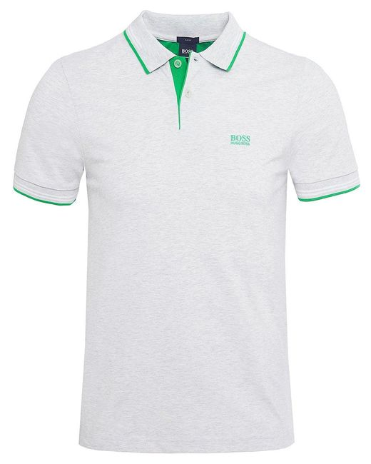 BOSS - Natural Slim Fit Paul Polo Shirt for Men - Lyst