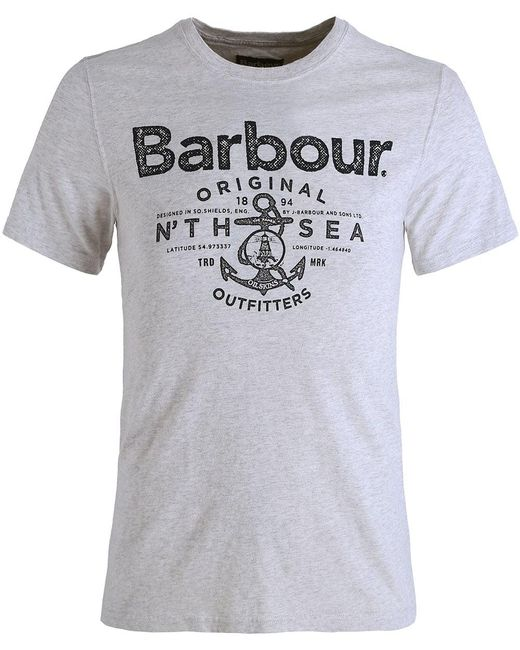 Barbour | Multicolor Sea Logo T-shirt for Men | Lyst