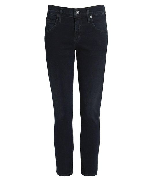 Citizens of Humanity | Black Elsa Mid Rise Cropped Jeans | Lyst