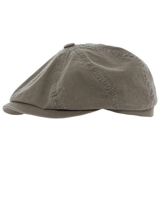 Stetson   Gray Organic Cotton Hatteras Delave Cap for Men   Lyst