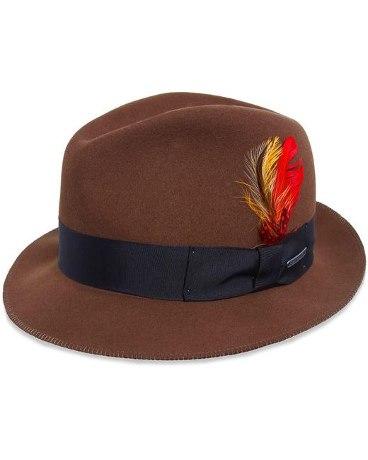 Stetson - Brown Atlanta Felt Fedora for Men - Lyst