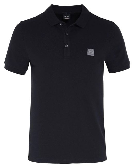 BOSS - Black Slim Fit Passenger Polo Shirt for Men - Lyst