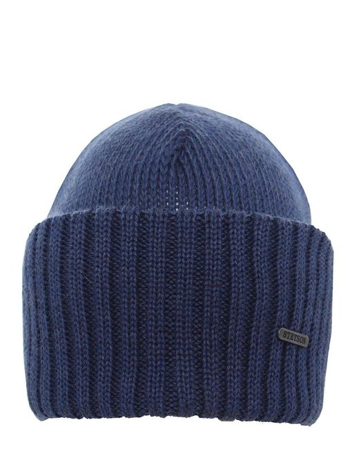 Stetson - Blue Merino Wool Beanie Hat for Men - Lyst