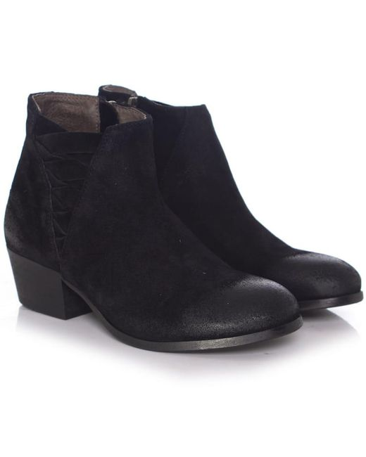 H by Hudson | Black Suede Ankti Boots | Lyst