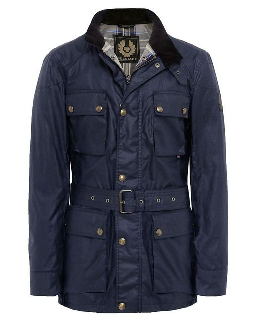 Belstaff - Blue Waxed Roadmaster Jacket for Men - Lyst
