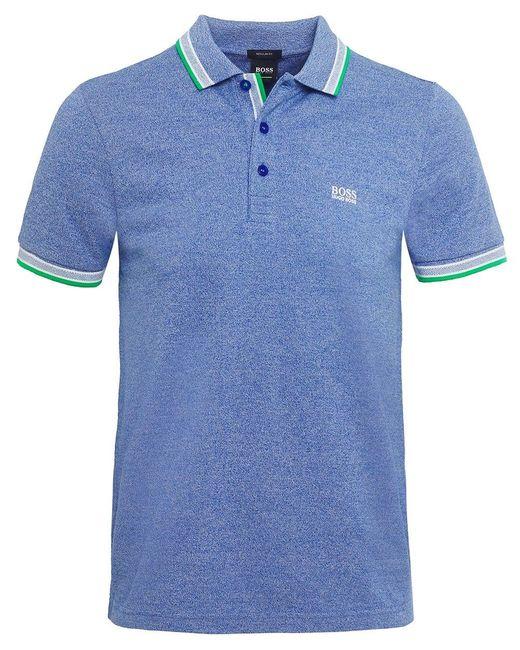 BOSS - Blue Regular Fit Paddy Polo Shirt for Men - Lyst