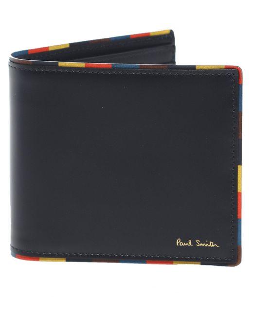 Paul Smith - Black Leather Artist Stripe Edge Billfold Wallet for Men - Lyst