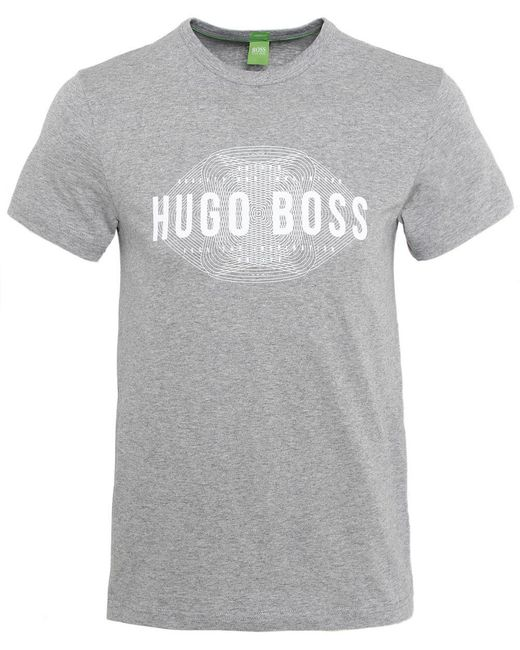 BOSS Green Gray Modern Fit Logo T-shirt for men