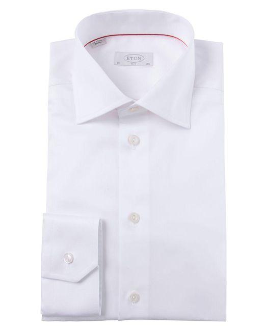 Eton of Sweden | White Slim Fit Solid Shirt for Men | Lyst