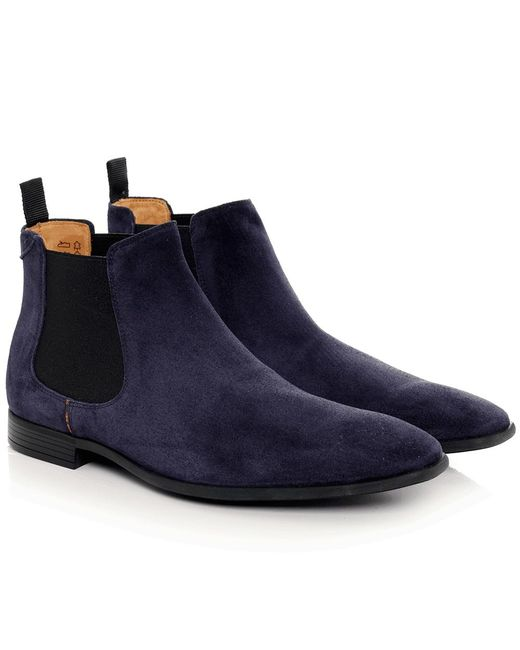 PS by Paul Smith | Blue Suede Falconer Chelsea Boots for Men | Lyst
