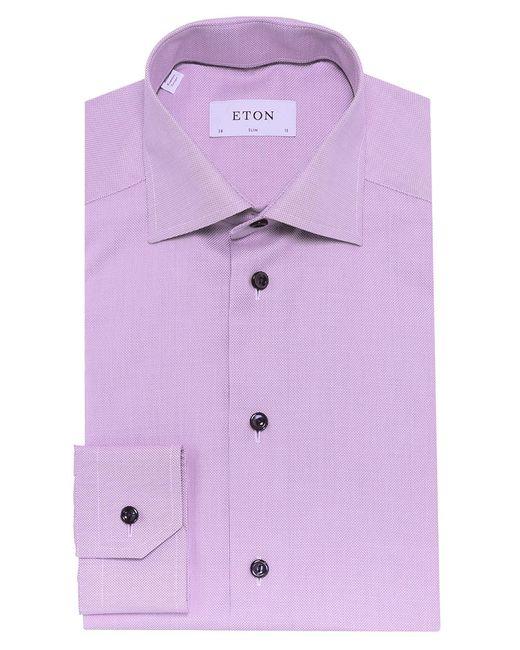 Eton of Sweden | Purple Slim Fit Signature Twill Shirt for Men | Lyst