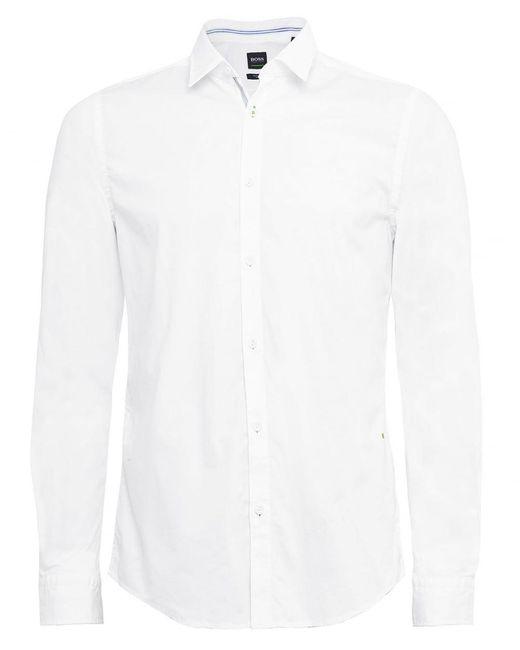 BOSS - White Regular Fit Boldo_r Shirt for Men - Lyst