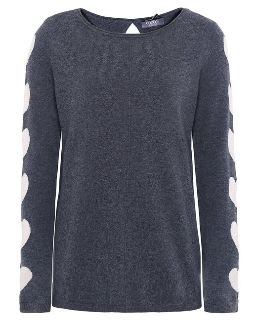 Cocoa Cashmere - Gray Cashmere Heart Sleeve Jumper - Lyst