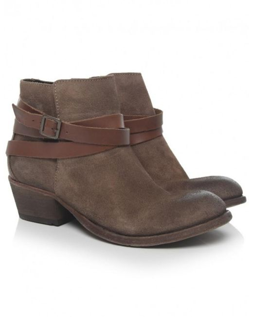 H by Hudson - Natural Horrigan Leather & Suede Boots - Lyst
