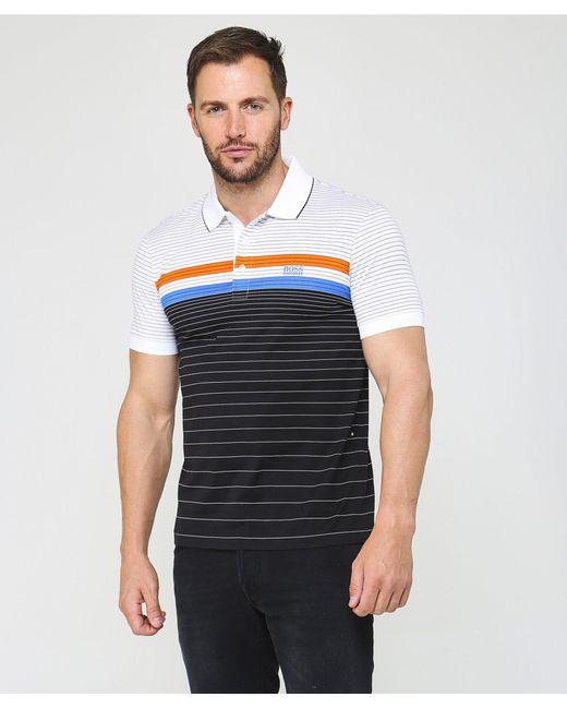 8458d41ea ... BOSS - Black Regular Fit Mercerised Cotton Paddy 3 Polo Shirt for Men -  Lyst ...