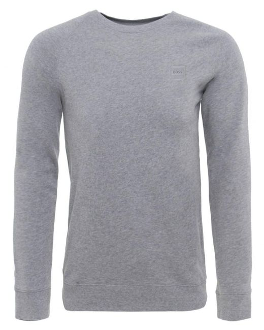 BOSS Orange | Gray Slim Fit Wheel Uk Sweatshirt for Men | Lyst