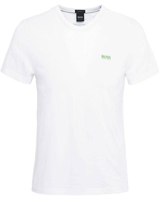 BOSS - White Regular Fit V-neck Teevn T-shirt for Men - Lyst