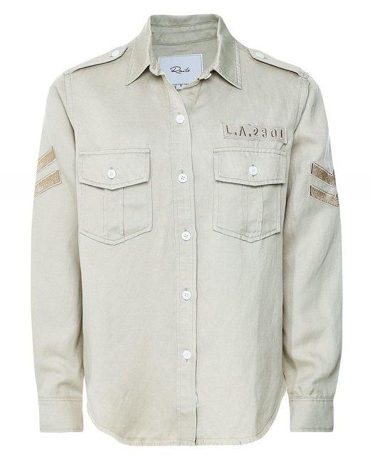 Rails Natural Conrad Military Patch Shirt