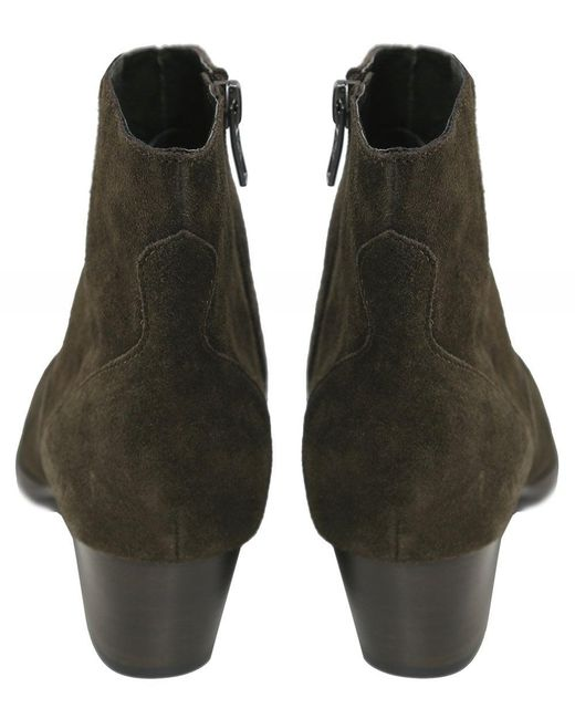 6f182a3656f Women's Green Heidi Bis Suede Ankle Boots