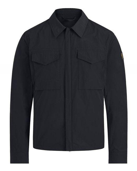Belstaff Blue Water-repellent Command Overshirt for men