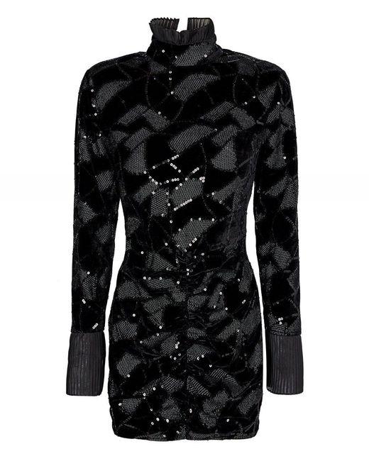 Miki Sequin Mini Dress ROTATE BIRGER CHRISTENSEN en coloris Black