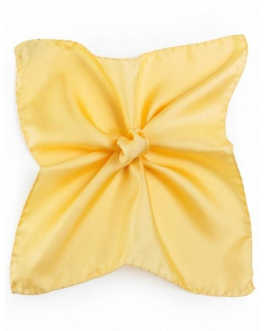 Ascot Accessories Yellow Silk Pocket Square for men