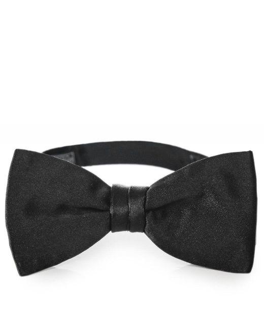 Ascot Accessories Black Hand Tied Silk Bow Tie for men