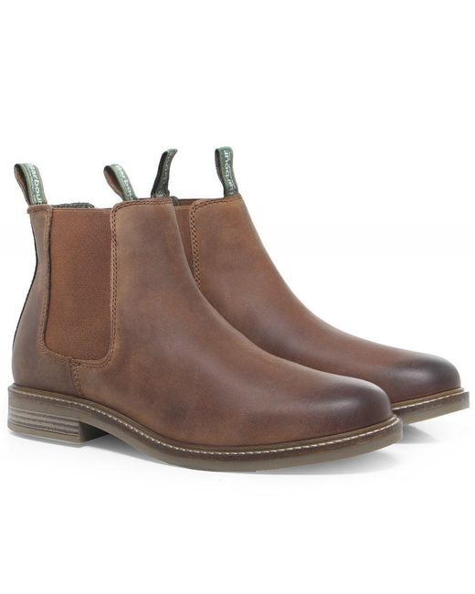 240f51e6 Barbour Leather Farsley Chelsea Boots in Brown for Men - Save 25% - Lyst