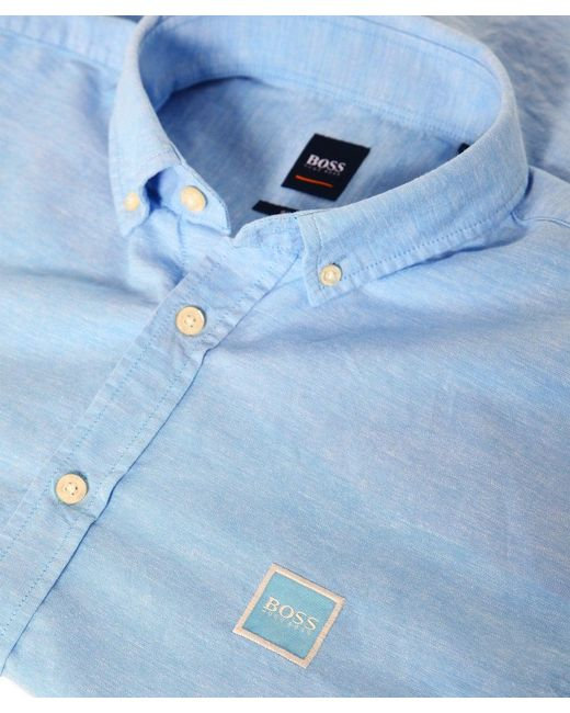 e459a582c ... BOSS - Blue Slim Fit Mabsoot Oxford Shirt for Men - Lyst