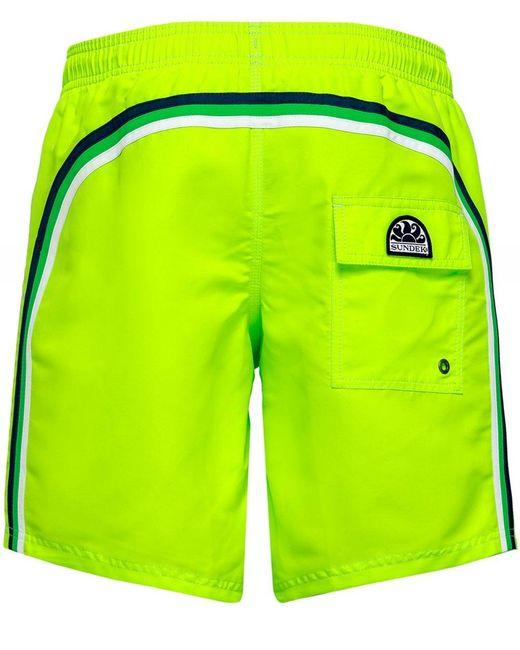Mid-Length Swim Shorts Sundek pour homme en coloris Green
