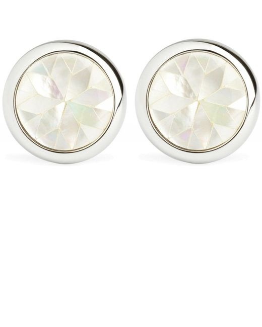 Mother-of-Pearl Kaleidoscope Cufflinks Simon Carter pour homme en coloris White