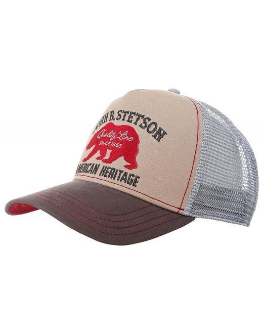 Bear Trucker Cap Stetson pour homme en coloris Natural