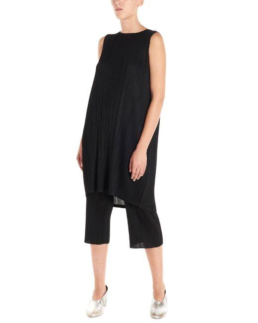 Pleats Please Issey Miyake Black Pleated Dress