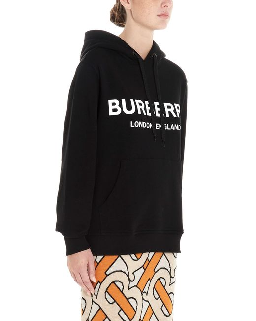 Burberry Black Logo Hooded Sweatshirt