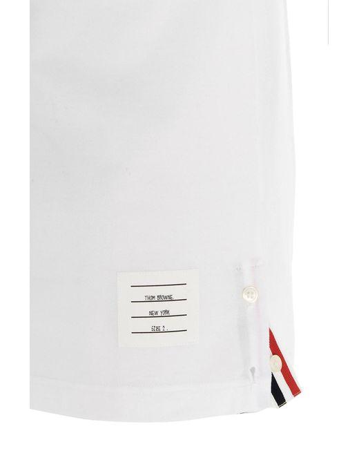 T-shirt '4 bar' di Thom Browne in White da Uomo