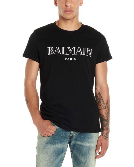 T-shirt logo di Balmain in Black da Uomo