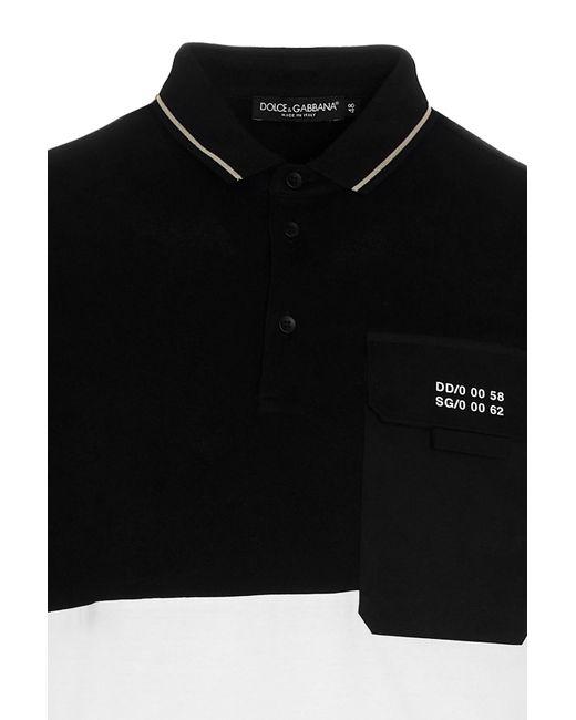 Polo bicolor di Dolce & Gabbana in Black da Uomo