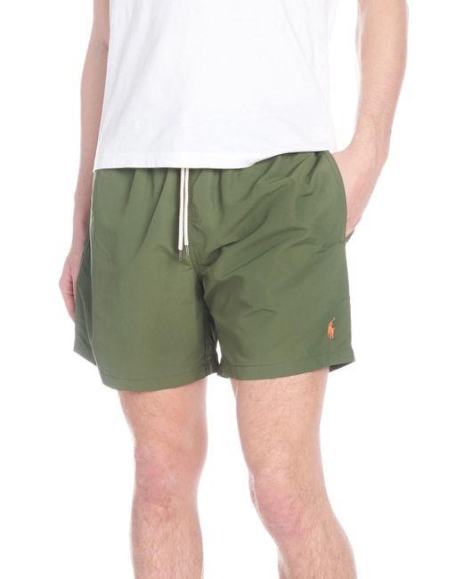 529d67972654c Polo Ralph Lauren - Green Traveller Mid-length Swim Shorts for Men - Lyst  ...