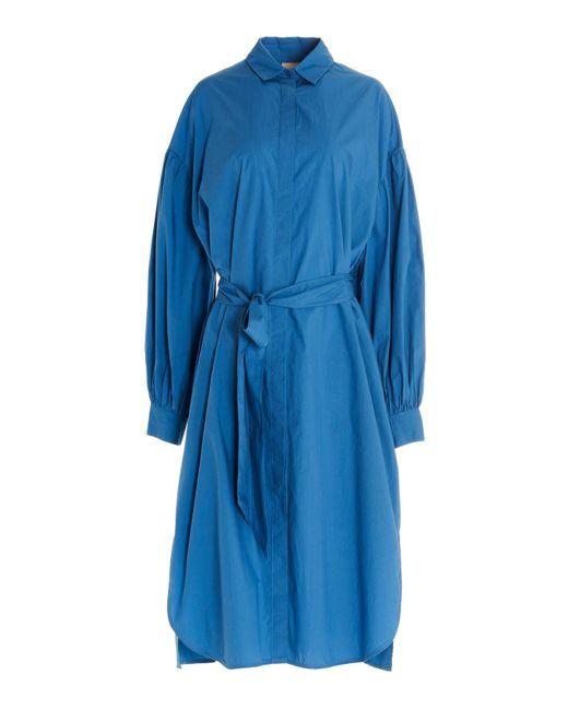 Nude Blue Shirt Dress